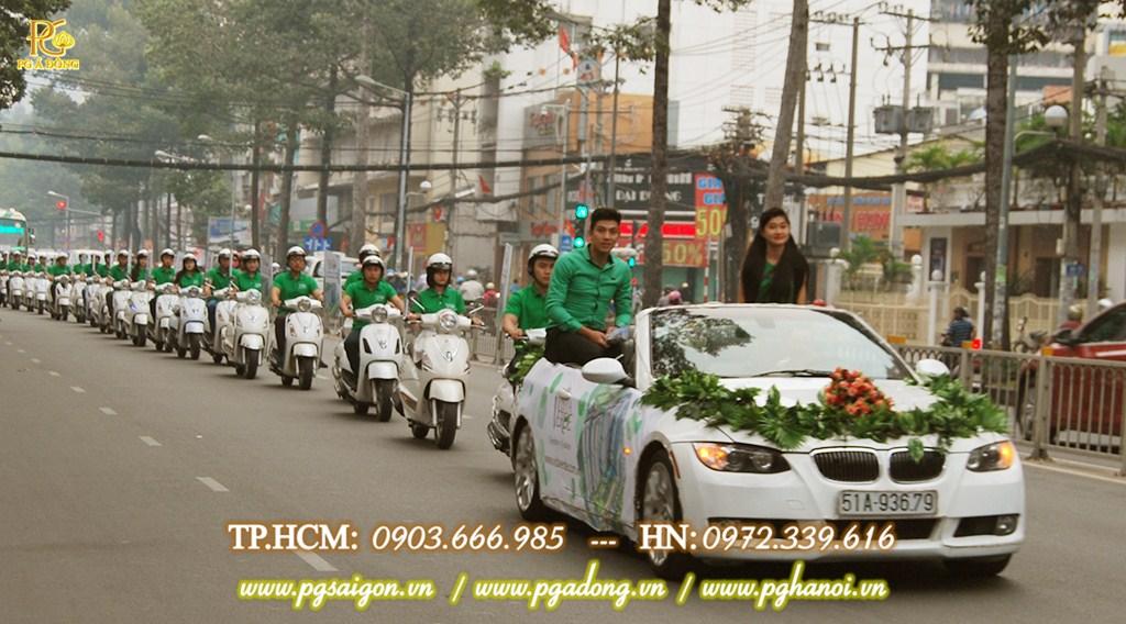 Chạy roadshow xe máy cho bất động sản Cappitaland