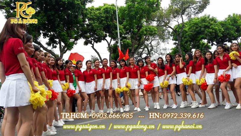 Đội ngũ PG cổ động trẻ trung xinh đẹp của PG Á Đông