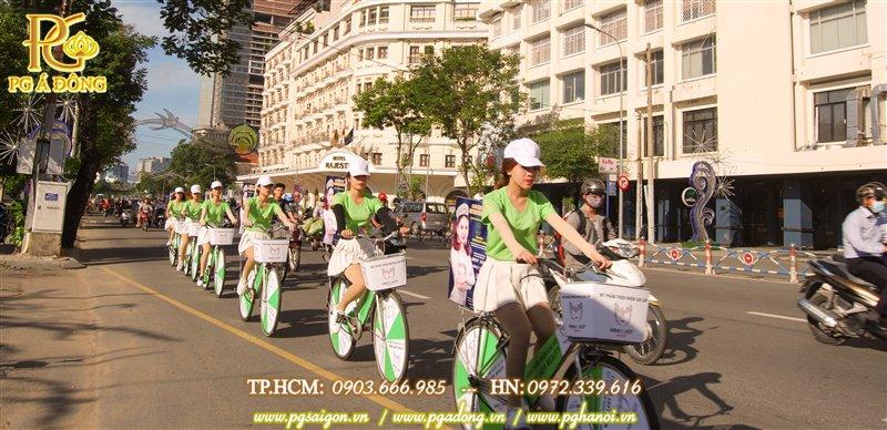 Đoàn roadshow xe đạp ở đường Tôn Đức Thắng