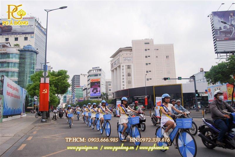 Đoàn roadshow xe đạp nổi bật trên đường Nam Kỳ Khởi Nghĩa
