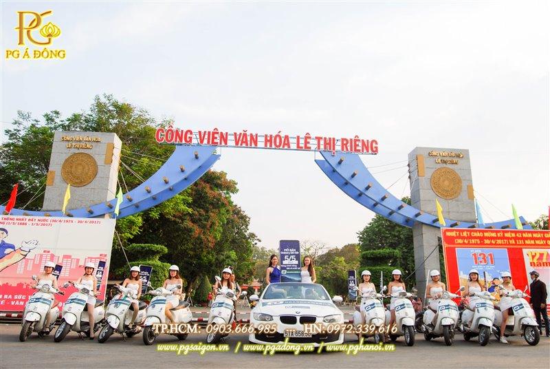Đoàn roadshow xe máy tại cv Lê Thị Riêng