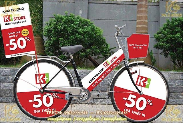 Trang trí roadshow xe đạp truyền hình K+