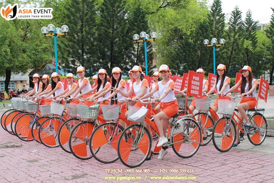 Thuê xe đạp roadshow