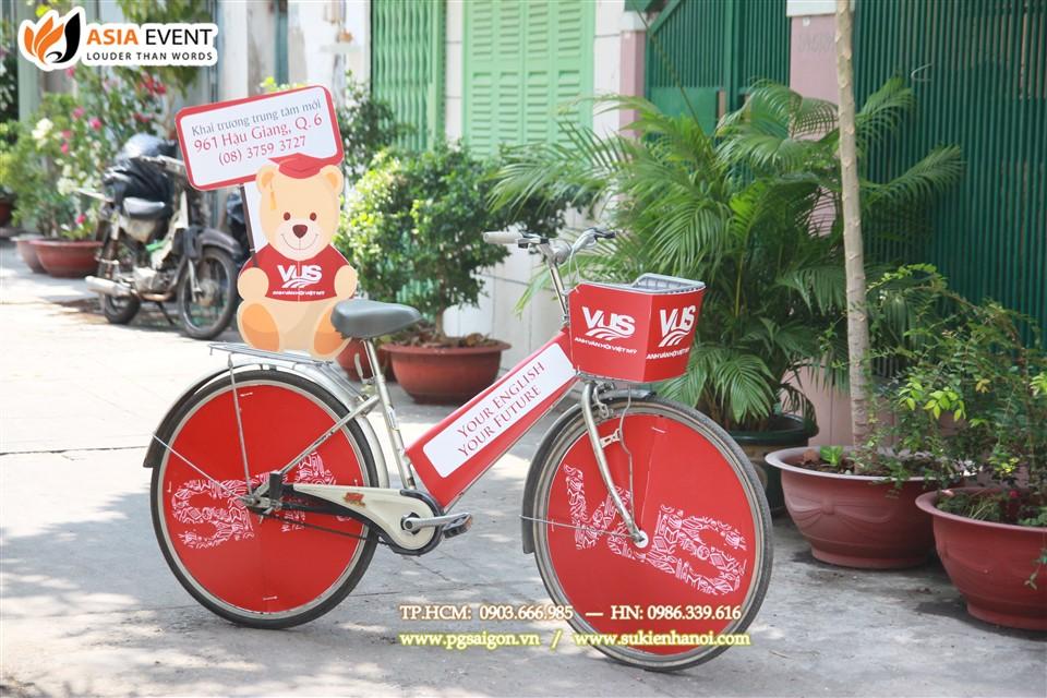 Thuê xe đạp roadshow VUS