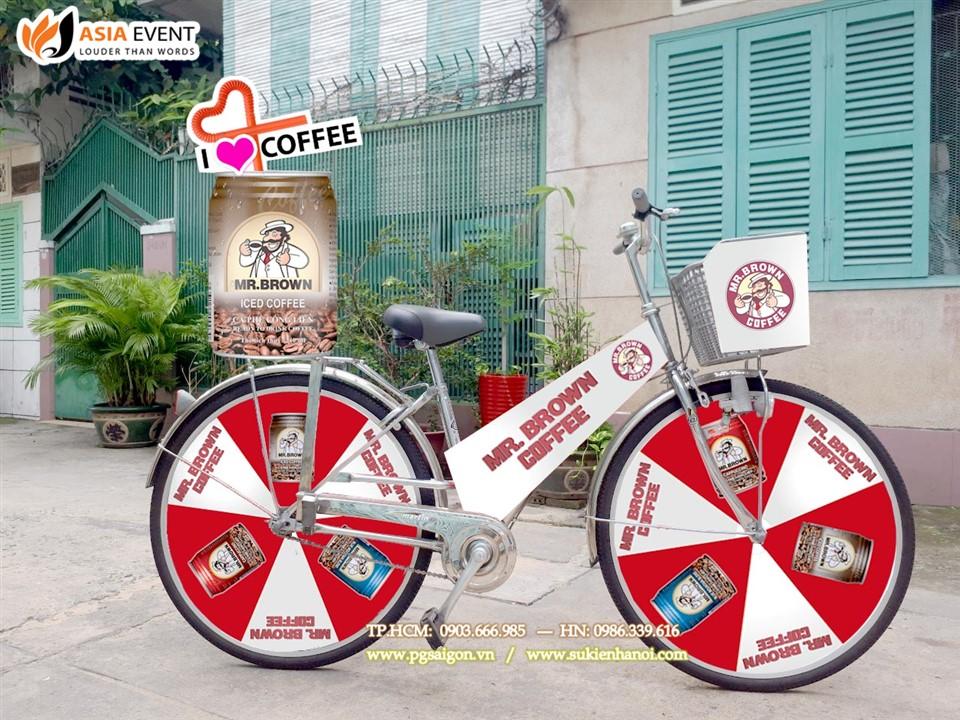 Thuê xe đạp roadshow MR Bean