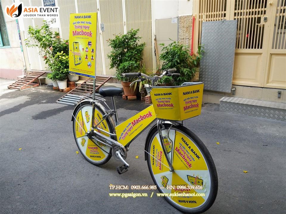 Thuê xe đạp roadshow Nam Á Bank