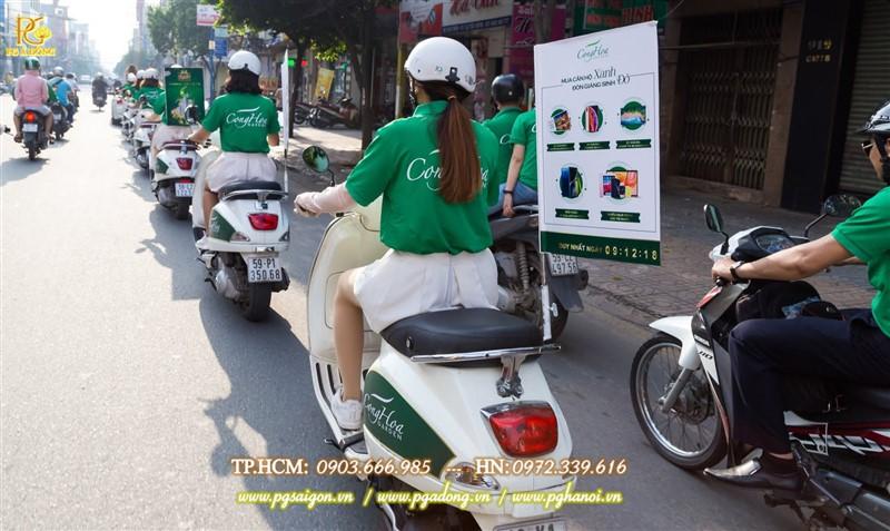 Đoàn roadshow xe máy nổi bật trên đường Trường Chinh