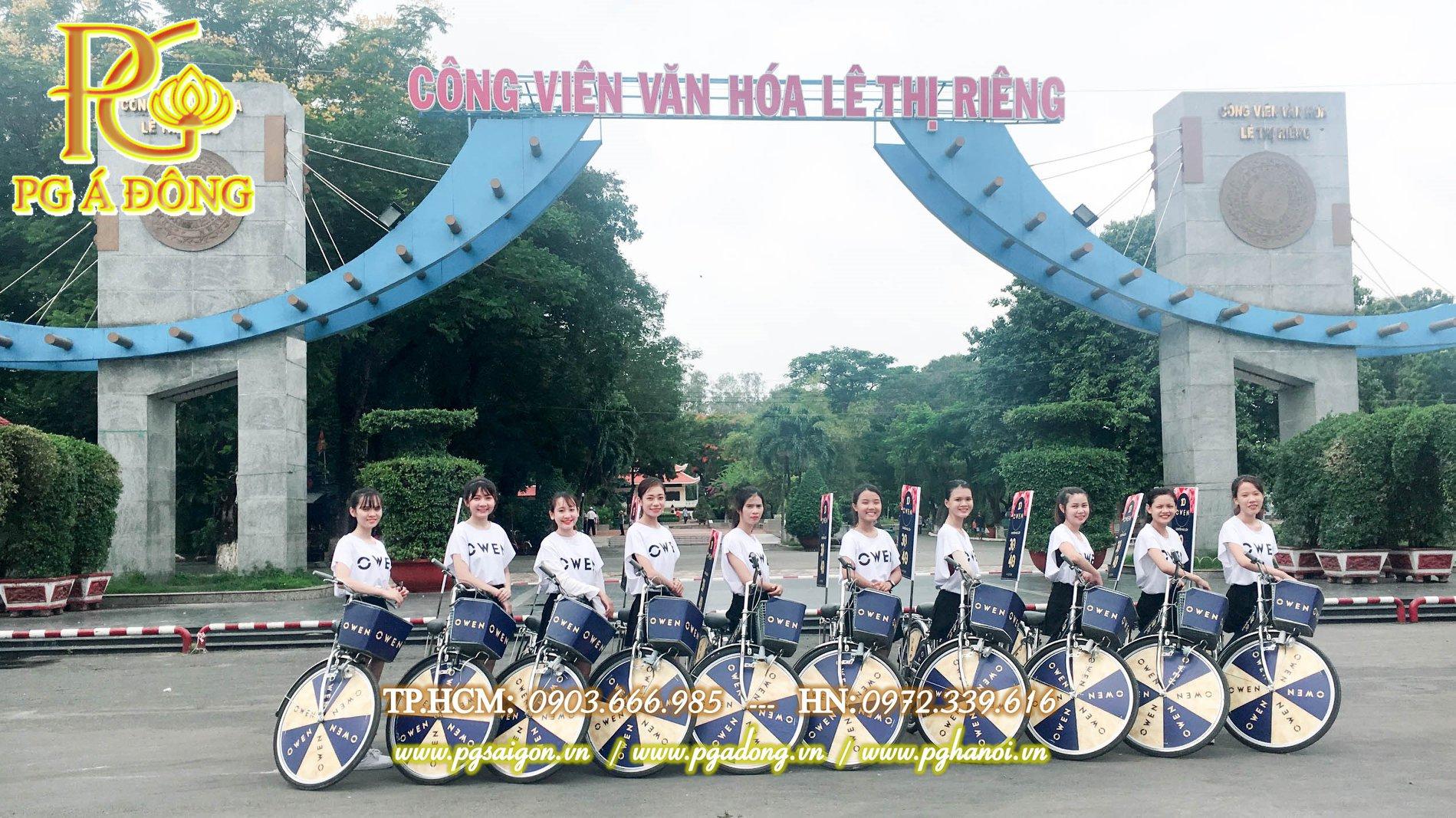 Đoàn roadshow xe đạp tại công viên Lê Thị Riêng