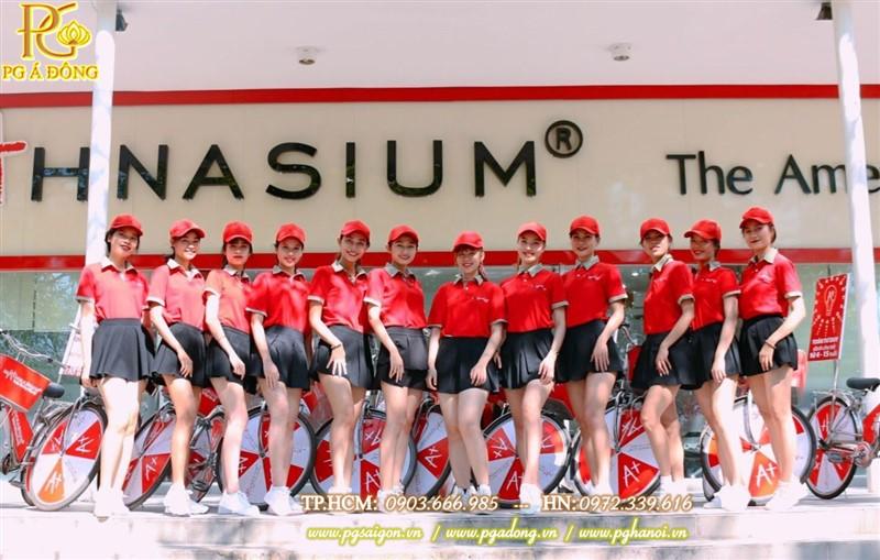 Đội ngũ PG roadshow xe đạp xinh xắn