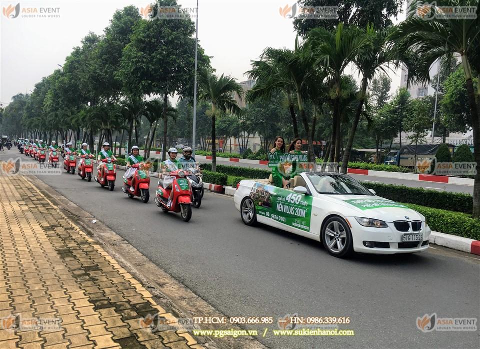 Tổ chức roadshow xe máy Gold villas Phú Mỹ-2