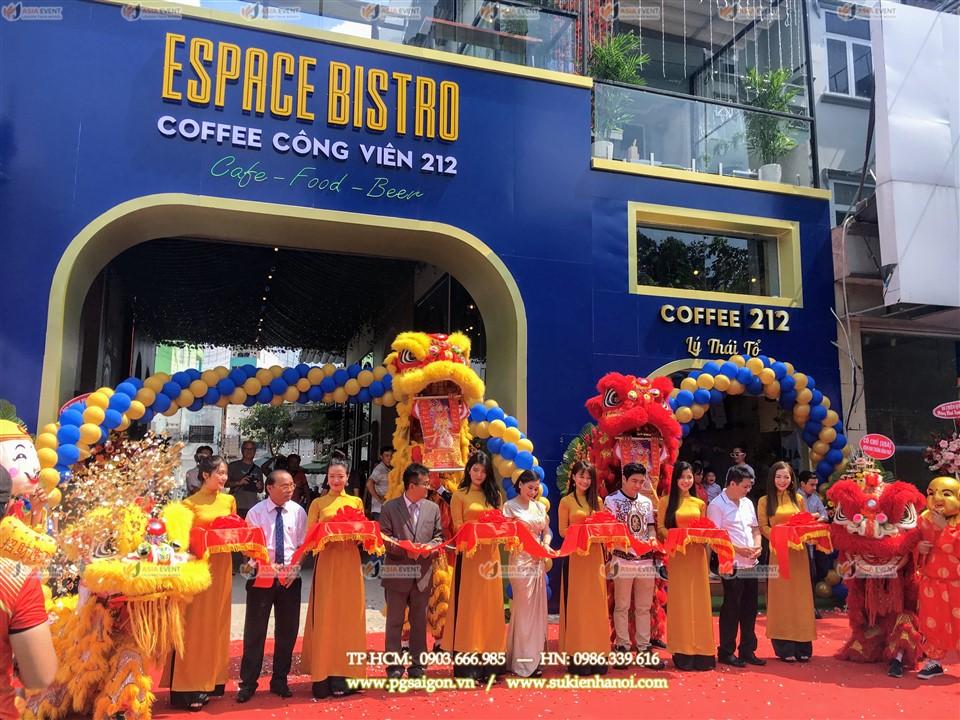 Tổ chức khai trương cửa hàng Cafe Espace Bistro